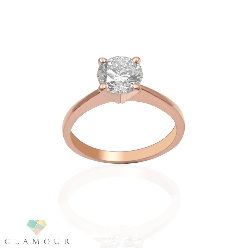 4 Prong Solitaire Diamond Ring This 4 Prong Solitaire Diamond Ring is eternally elegant made from 18k rose gold featuring brilliant cut diamonds in 4 Prong setting making it ideal for all occasions and a perfect gifting choice.